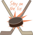 Stay on the Ice vector image vector image
