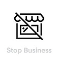 stop business protection measures icon editable vector image vector image