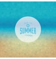 Summer Vacation Label vector image vector image