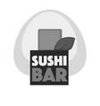 sushi bar emblem vector image vector image