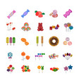 sweet candies flat icons vector image