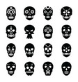 tattoos solid icons set vector image