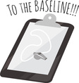 The Baseline vector image vector image
