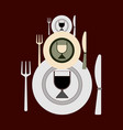 three sets of cutlery of different sizes for vector image vector image