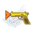 toy gun cartoon hand drawn image vector image