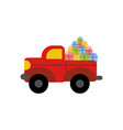 truck with presents vector image vector image