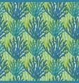 underwater seaweed seamless pattern print with vector image vector image