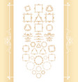 vintage syle calligraphic set of borders vector image