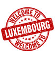 welcome to luxembourg vector image vector image