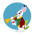 white rabbit with a pipe to the fairy tale alices vector image vector image