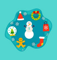 winter holiday papercut concept vector image