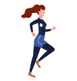 woman running with sportswear vector image