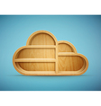 cloud shelf vector image