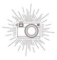retro camera posterisolated icon design vector image
