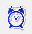 alarm clock sign new year bluish icon vector image