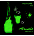 Absinthe party vector image vector image