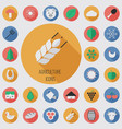Agriculture flat digital icon set