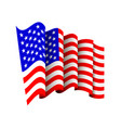 american flag icon isolated waving icon of united vector image