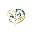 animal pet care logo design template