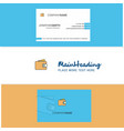 beautiful wallet logo and business card vertical vector image vector image