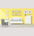 bedroom in modern country style background vector image