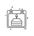 birthday calender icon design vector image vector image
