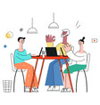 business meeting concept in vector image vector image