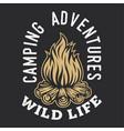 camping firewood vintage adventure outdoor logo 1