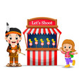 cartoon girl using indian costume at the circus vector image vector image