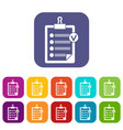 check list icons set vector image vector image