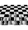 chess on chess board vector image vector image