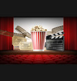 cinema concept 3d vector image vector image