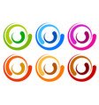 colorful circle logo icon templates concentric vector image vector image