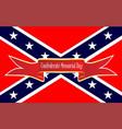 confederate memorial day banner vector image vector image