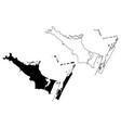 corpus christi city map vector image vector image