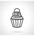 Creamy muffin simple line icon vector image vector image