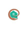 creative household hand caring logo vector image