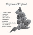 dark map of england with outline on white vector image vector image
