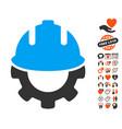 development icon with love bonus vector image vector image