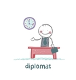 diplomat sitting at a desk vector image