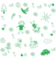 Draw for kids doodle art vector image vector image