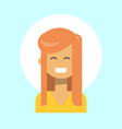 female emotion profile icon woman cartoon vector image vector image