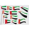 flag of the United Arab Emirates vector image vector image