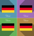 Flags Germany Set of colors flat design and long vector image