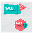 flat linear promotion ribbon banners price tags vector image vector image