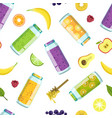 fresh smoothies vegetables and fruits seamless vector image
