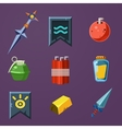 Game Resources Icons Flat Set vector image vector image