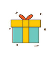 gift box icon design vector image