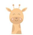 Giraffe face head icon kawaii animal cute cartoon