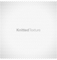 grey knitted background vector image vector image